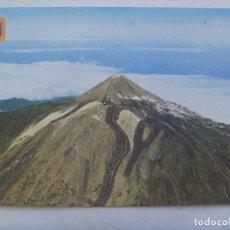 Postales: POSTAL DE TENERIFE ( CANARIAS ): VISTA AEREA DEL PICO DEL TEIDE. AÑOS 60. Lote 183538453
