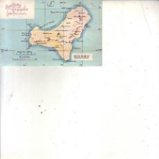 Cartes Postales: TENERIFE - EL HIERRO MAPA - PUBLICIDAD HOTEL QUISISANA. Lote 183634758