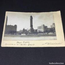 Postales: CURIOSA ANTIGUA POSTAL DE TENERIFE - PLAZA ESPAÑA, MONUMENTO A LOS CAIDOS - GARRIGA - SIN CIRCULAR. Lote 183663837