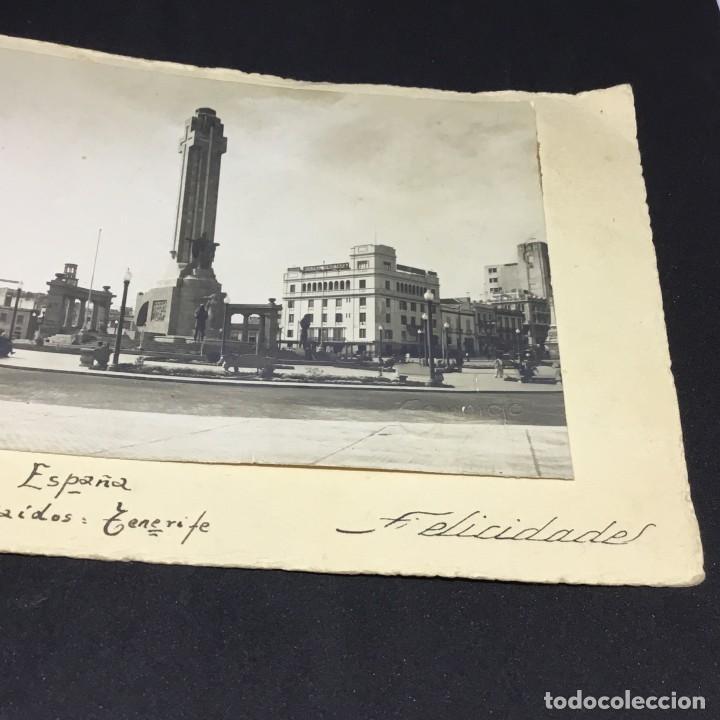 Postales: CURIOSA ANTIGUA POSTAL DE TENERIFE - PLAZA ESPAÑA, MONUMENTO A LOS CAIDOS - GARRIGA - SIN CIRCULAR - Foto 3 - 183663837