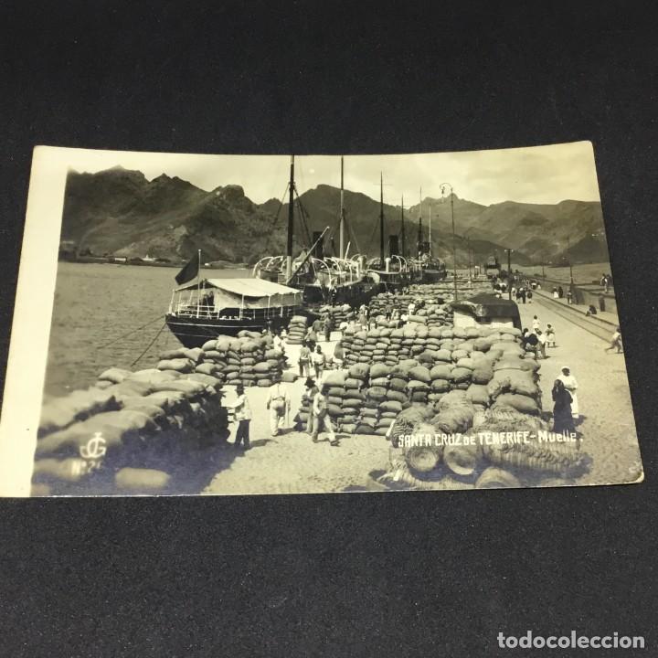 ANTIGUA POSTAL FOTOGRÁFICA DE SANTA CRUZ DE TENERIFE - MUELLE - EDICIONES JC - Nº 26 - SIN CIRCULAR (Postales - España - Canarias Antigua (hasta 1939))