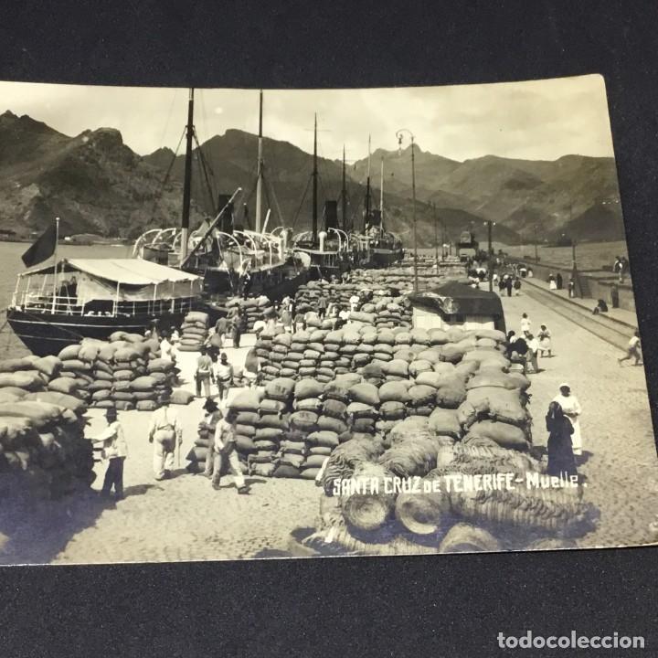 Postales: ANTIGUA POSTAL FOTOGRÁFICA DE SANTA CRUZ DE TENERIFE - MUELLE - EDICIONES JC - Nº 26 - SIN CIRCULAR - Foto 2 - 183664293