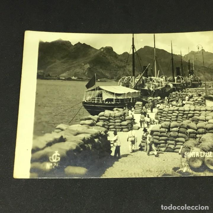 Postales: ANTIGUA POSTAL FOTOGRÁFICA DE SANTA CRUZ DE TENERIFE - MUELLE - EDICIONES JC - Nº 26 - SIN CIRCULAR - Foto 3 - 183664293