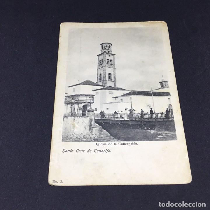 RARA POSTAL DE SANTA CRUZ DE TENERIFE - IGLESIA DE LA CONCEPCIÓN - Nº 3 - COLECCIÓN ARTE Y LETRAS (Postales - España - Canarias Antigua (hasta 1939))