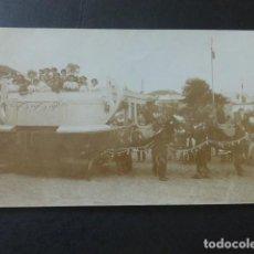 Postales: LAS PALMAS DE GRAN CANARIA POSTAL FOTOGRAFICA HACIA 1910 CARROZA FIESTAS. Lote 183690496