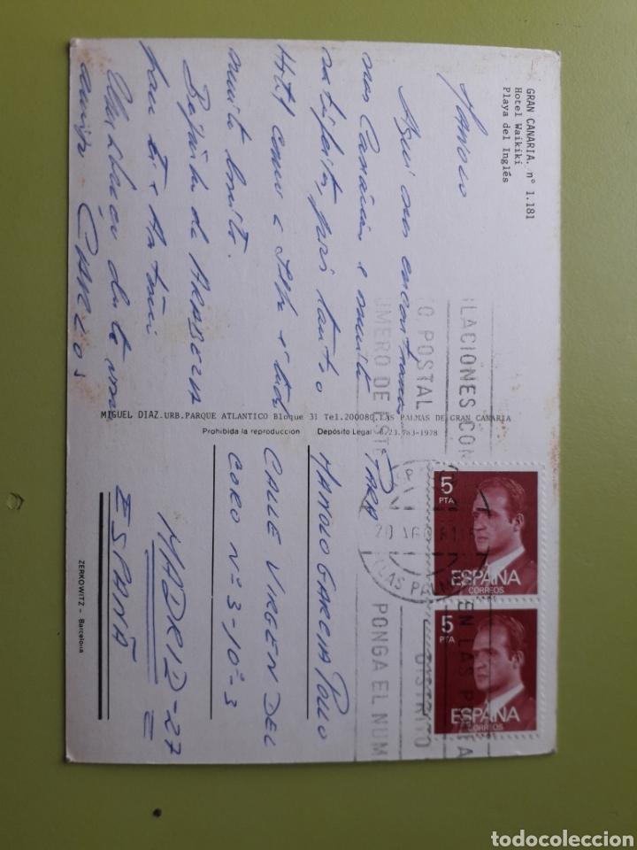 Postales: Gran Canaria Hotel Waikiki Playa Del Inglés 1181 Zerkowitz Tarjeta Postal Circulada - Foto 2 - 183799853