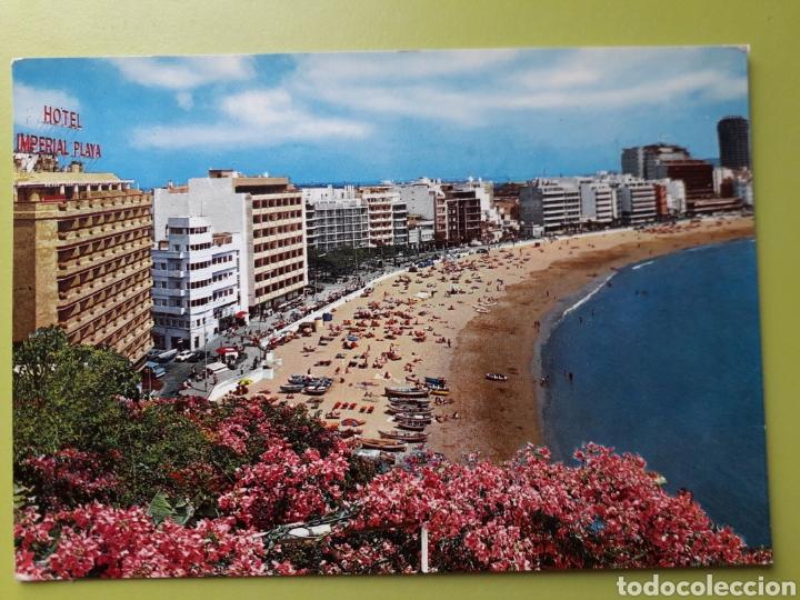 LAS PALMAS DE GRAN CANARIA VISTA GENERAL DE LAS CANTERAS E INSTALACIONES HOTELERAS POSTAL CIRCULADA (Postales - España - Canarias Moderna (desde 1940))