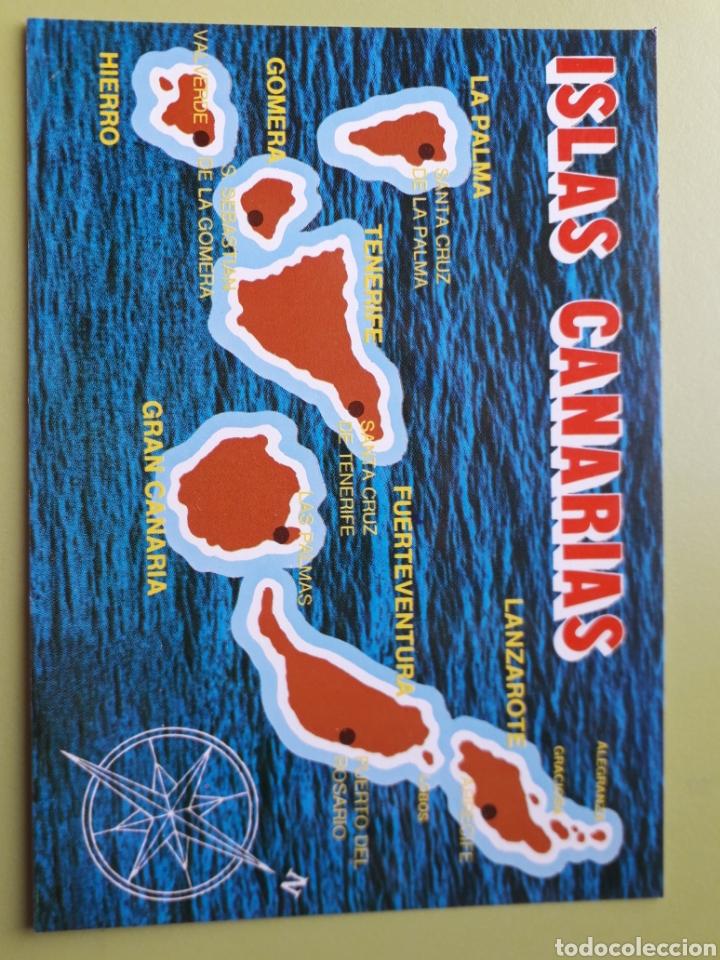 ISLAS CANARIAS MAPA TARJETA POSTAL NO ESCRITA 1081 GLOBAL TRADERS (Postales - España - Canarias Moderna (desde 1940))