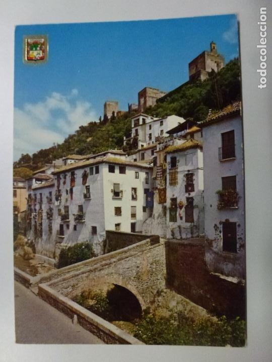 POSTAL. 77. GRANADA. CARRERA DEL DARRO. ED. DOMÍNGUEZ. NO ESCRITA. (Postales - España - Canarias Moderna (desde 1940))