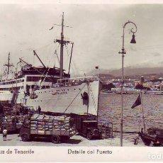 Postales: SANTA CRUZ TENERIFE DETALLE DEL PUERTO -ED ARRIBAS. Lote 183878545