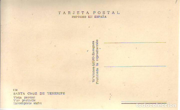 Postales: SANTA CRUZ TENERIFE VISTA PARCIA- ED. LUJO - Foto 2 - 183878886