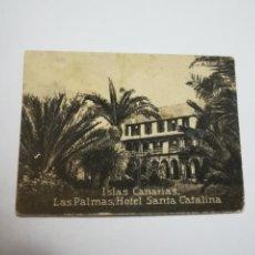 Postales: POSTAL ORIGINAL. 6.5 X 4.6CM. DÉCADA 30. LAS PALMAS. HOTEL SANTA CATALINA. Lote 183939155