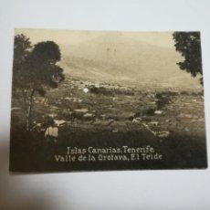 Postales: POSTAL ORIGINAL. 6.5 X 4.6CM. DÉCADA 30. Nº 1435. TENERIFE. VALLE DE LA OROTAVA. EL TEIDE. Lote 183951702