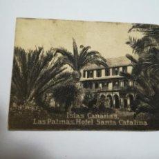 Postales: POSTAL ORIGINAL. 6.5 X 4.6CM. DÉCADA 30. Nº 1401. LAS PALMAS. HOTEL CATALINA. Lote 183952168
