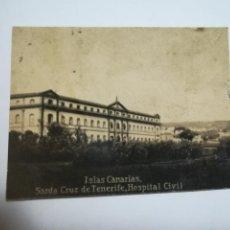 Postales: POSTAL ORIGINAL. 6.5 X 4.6CM. DÉCADA 30. Nº 1408. STA CRUZ DE TENERIFE. HOSPITAL CIVIL. Lote 183952481