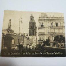 Postales: POSTAL ORIGINAL. 6.5 X 4.6CM. DÉCADA 30. Nº 1395. LAS PALMAS. PUENTE DE SANTA CATALINA. Lote 184038077