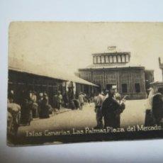 Postales: POSTAL ORIGINAL. 6.5 X 4.6CM. DÉCADA 30. Nº 1392. LAS PALMAS. PLAZA DEL MERCADO. Lote 184046751
