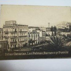 Postales: POSTAL ORIGINAL. 6.5 X 4.6CM. DÉCADA 30. Nº 1399. LAS PALMAS. BARRANCO Y PUENTE. Lote 184047213