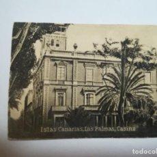 Postales: POSTAL ORIGINAL. 6.5 X 4.6CM. DÉCADA 30. Nº 1398. LAS PALMAS. CASINO. Lote 184049623