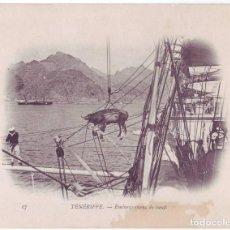 Postales: TENERIFE: EMBARQUE DE BUEYES. DUGUAY TROUIN. NO CIRCULADA (1902-1903). Lote 184260966