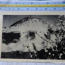 Postais: FOTO POSTAL DE TENERIFE. AÑOS 30 50. LAS CAÑADAS TEIDE NEVADO. FOTO BENITEZ. 2280. Lote 184311026