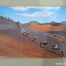 Postales: LANZAROTE - LA ISLA DE LOS VOLCANES - ESCRITA. Lote 185102162
