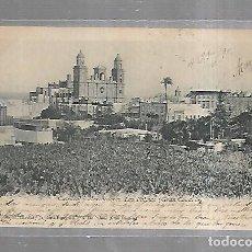 Postales: TARJETA POSTAL. LAS PALMAS. CATEDRAL Y ALREDEDORES. Nº 4. A.ALZOLA MARTIN. Lote 185787326