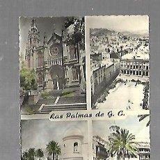 Postales: TARJETA POSTAL. LAS PALMAS DE G.C. VARIAS VISTAS. 520. EDICIONES LUJO. Lote 185878427