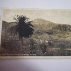 Cartes Postales: TARJETA POSTAL. TENERIFE. VILLA OROTAVA CON EL PICO DEL TEIDE. FOTO CENTRAL. Lote 185923391
