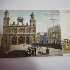 Postales: TARJETA POSTAL. LAS PALMAS. CATEDRAL. J.PERESTRELLO. Lote 185924615