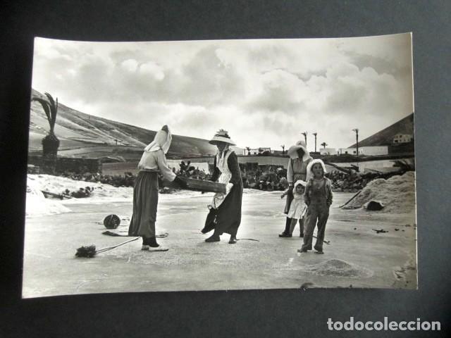 POSTAL LANZAROTE. LABOR CAMPESINA. FOTO GABRIEL FERNANDEZ. (Postales - España - Canarias Moderna (desde 1940))
