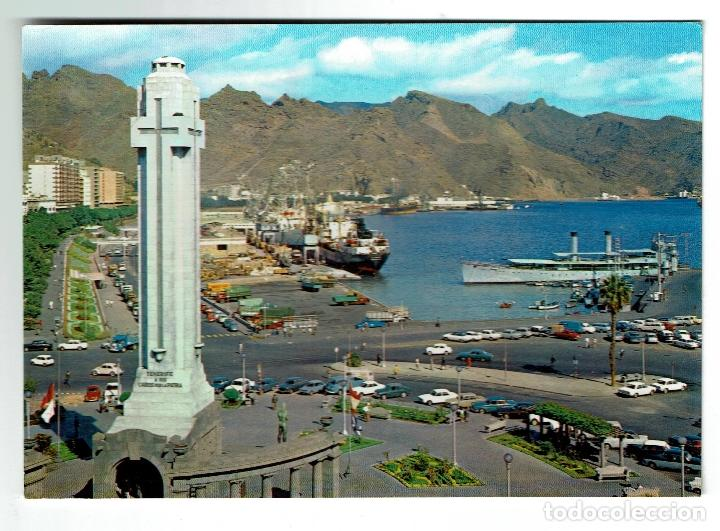 SANTA CRUZ DE TENERIFE - PLAZA DE ESPAÑA - GLOBAL TRADERS 3 - CIRCULADA SELLO 7 PESETAS 1979 (Postales - España - Canarias Moderna (desde 1940))