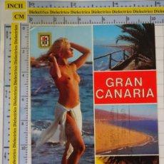 Postales: POSTAL DE GRAN CANARIA. AÑO 1981. PLAYA DEL INGLÉS. MUJER DESNUDA TOPLESS. 1667. Lote 187079961