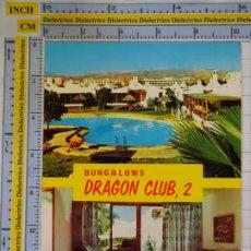 Postales: POSTAL DE GRAN CANARIA. AÑO 1975. PLAYA DEL INGLÉS, BUNGALOWS DRAGON CLUB. 1668. Lote 187080002