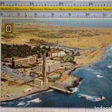 Postales: POSTAL DE GRAN CANARIA. AÑO 1974. FARO Y DUNAS DE MASPALOMAS. 578 ESCUDO DE ORO. 1669. Lote 187080030