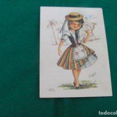 Postales: TARJETA POSTAL CON DIBUJO DE TRAJE REGIONAL DE TENERIFE, CANARIAS. Nº 2 COLECCIÓN. AUTORA : ISABEL. Lote 187228781