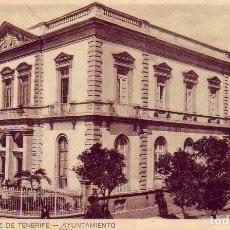 Postales: TENERIFE SANTA CRUZ AYUNTAMIENTO. Lote 187232940