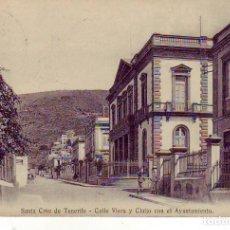 Postales: TENERIFE SANTA CRUZ AYUNTAMIENTO CALLE VIERA Y CLAVIJO. Lote 187232952