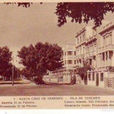 Postales: TENERIFE SANTA CRUZ RAMBLA XI DE FEBRERO. Lote 187232971