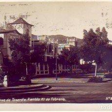 Postales: TENERIFE SANTA CRUZ RAMBLA XI DE FEBRERO. Lote 187232987