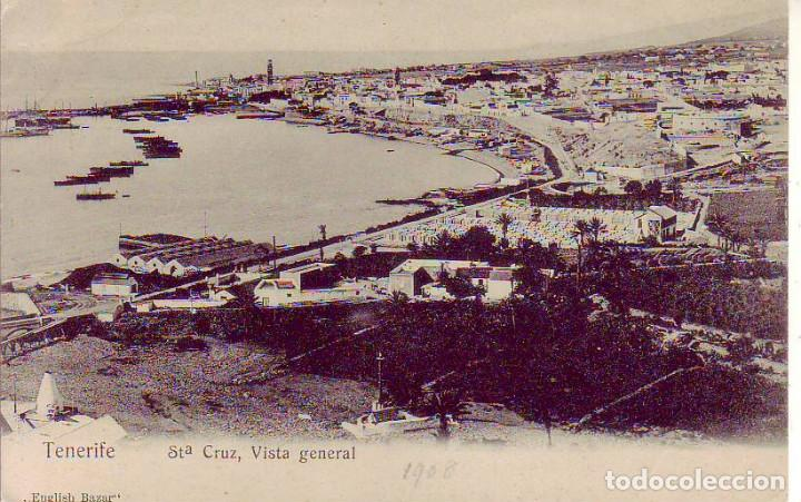 TENERIFE SANTA CRUZ VISTA GENERAL (Postales - España - Canarias Antigua (hasta 1939))