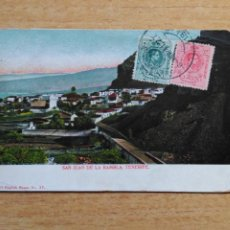 Postales: TARJETA POSTAL TENERIFE - 37 SAN JUAN DE LA RAMBLA - CIRCULADA - NOBREGA´S ENGLISH BAZAR. Lote 191096481