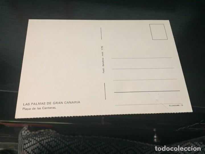 Postales: POSTAL DE LAS PALMAS - PLAYA DE LAS CANTERAS - BONITAS VISTAS - LA DE LA FOTO VER TODAS MIS POSTALES - Foto 2 - 194011608