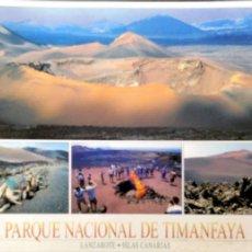 Postales: LANZAROTE. PN19 PARQUE NACIONAL DE TIMANFAYA. CROMÁTICA. NUEVA. COLOR. DORSO CON SEÑALES DE HABER ES. Lote 194172157
