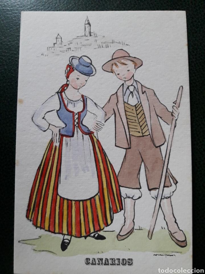 POSTAL ANTIGUA DE CANARIOS (Postales - España - Canarias Moderna (desde 1940))