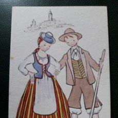 Postales: POSTAL ANTIGUA DE CANARIOS. Lote 194209933