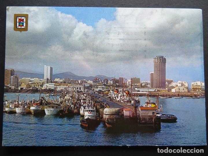 LAS PALMAS DE GRAN CANARIA, MUELLE DE SANTA CATALINA, POSTAL CIRCULADA DE LOS AÑOS 70 (Postales - España - Canarias Moderna (desde 1940))