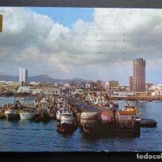 Postales: LAS PALMAS DE GRAN CANARIA, MUELLE DE SANTA CATALINA, POSTAL CIRCULADA DE LOS AÑOS 70. Lote 194215031