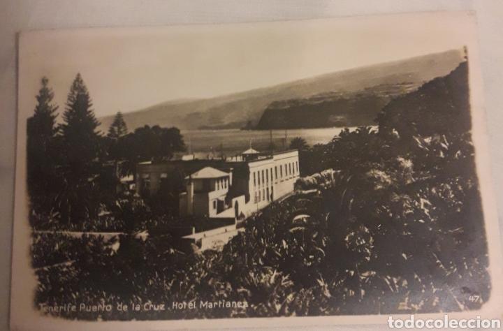 TARJETA POSTAL FOTOGRAFICA ANTIGUA TENERIFE PUERTO DE LA CRUZ HOTEL MARTIANE (Postales - España - Canarias Moderna (desde 1940))