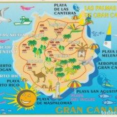 Postales: GRAN CANARIA. MAPA. Lote 194332058